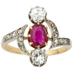 Late Victorian Ruby and Diamond Ring