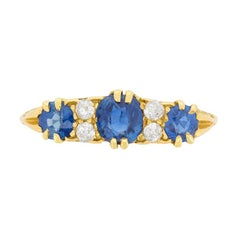 Late Victorian Sapphire and Diamond Ring, circa 1900s