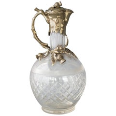 A Victorian Silver Gilt Claret Jug / Decanter, London, 1894 by William Thornhill