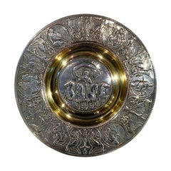 Late Victorian Silver Plate and Gold Wash Caviar Dish by Elkington, 1890