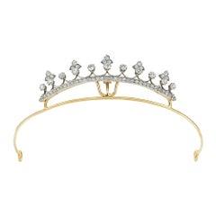 Late Victorian Small Diamond-Set Tiara