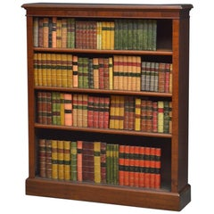 Late Victorian Solid Mahogany Open Bookcase