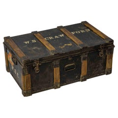 Late Victorian Tin Travelling Trunk
