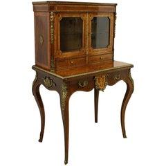 Late Victorian Tulipwood, Purplewood and Burr Writing Table, circa 1890