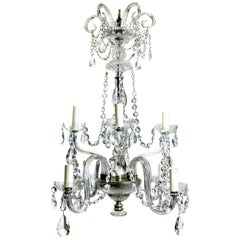 Late 19th Century French Cut Glass Chandelier