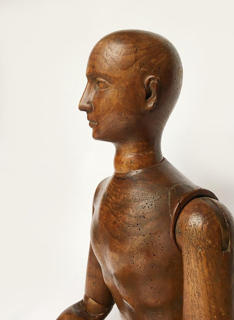 Late 19th Century Italian Wood Mannequin, circa 1880 For Sale 5