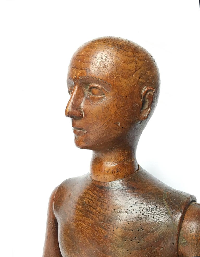 Late 19th Century Italian Wood Mannequin, circa 1880 For Sale 6