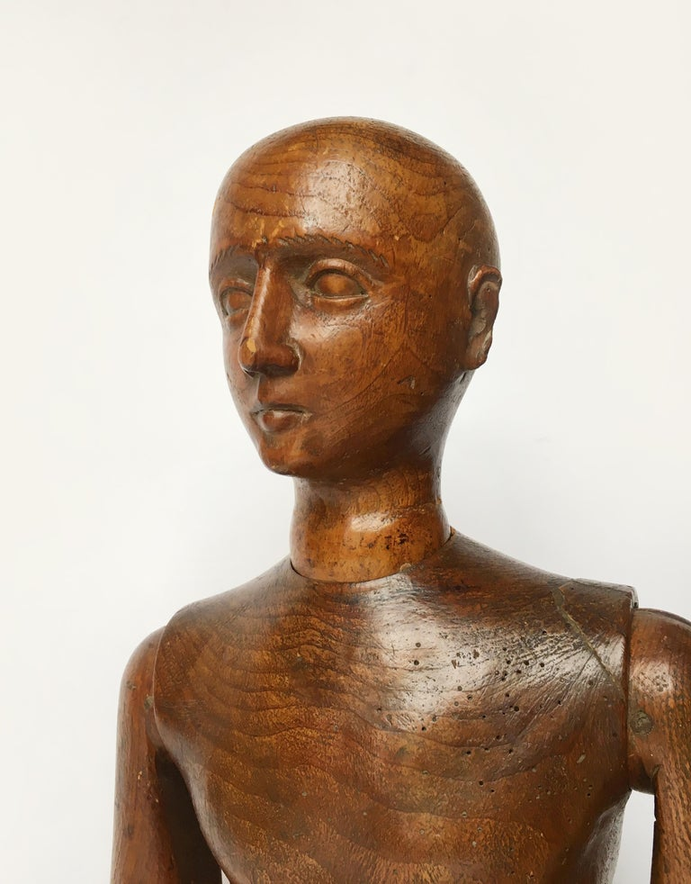 Late 19th Century Italian Wood Mannequin, circa 1880 For Sale 7