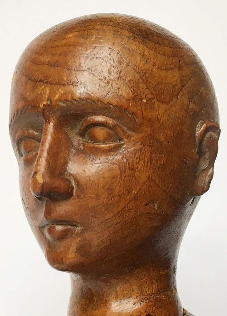 Late 19th Century Italian Wood Mannequin, circa 1880 For Sale 8