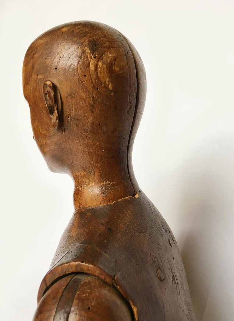 Late 19th Century Italian Wood Mannequin, circa 1880 For Sale 9