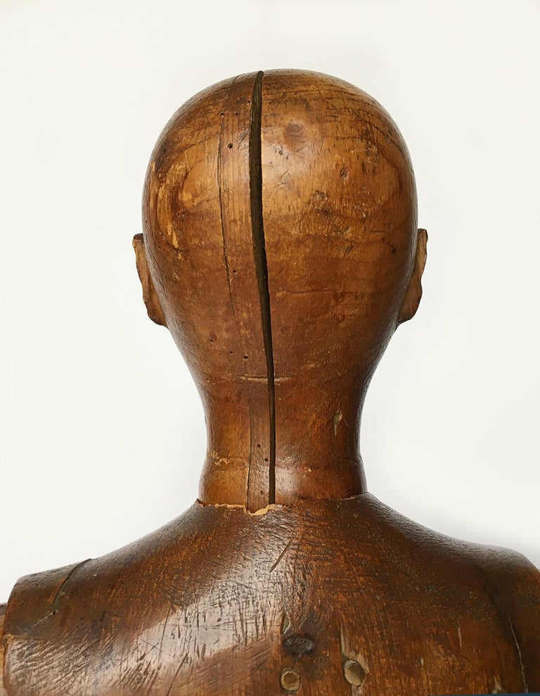 Late 19th Century Italian Wood Mannequin, circa 1880 For Sale 10