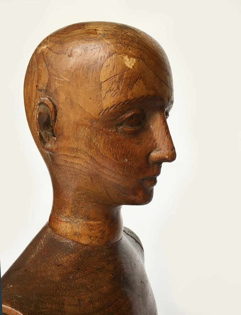 Late 19th Century Italian Wood Mannequin, circa 1880 For Sale 11