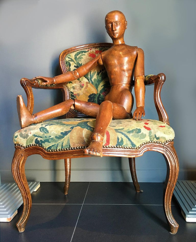 Late 19th Century Italian Wood Mannequin, circa 1880 For Sale 15