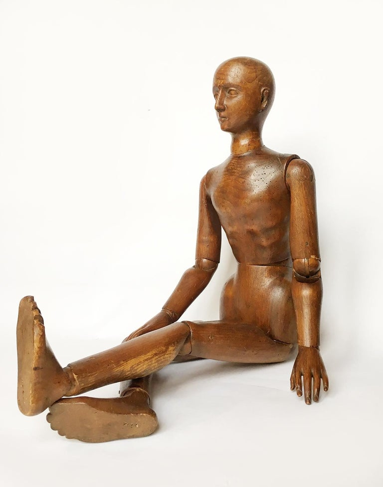 Other Late 19th Century Italian Wood Mannequin, circa 1880 For Sale