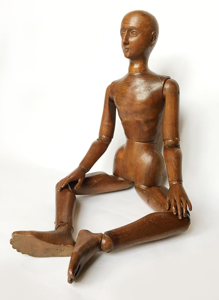 Late 19th Century Italian Wood Mannequin, circa 1880 In Good Condition For Sale In Milano, IT