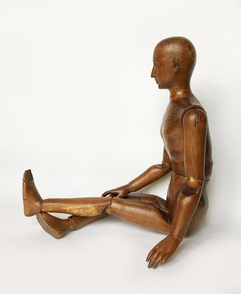 Late 19th Century Italian Wood Mannequin, circa 1880 For Sale 1