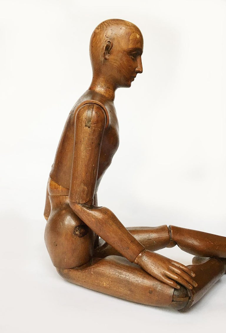 Late 19th Century Italian Wood Mannequin, circa 1880 For Sale 2