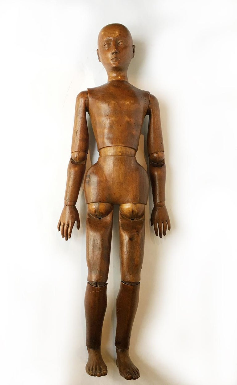 Late 19th Century Italian Wood Mannequin, circa 1880 For Sale 3