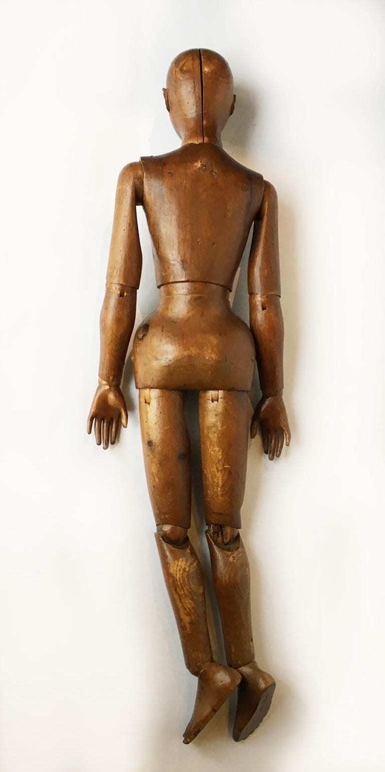 Late 19th Century Italian Wood Mannequin, circa 1880 For Sale 4