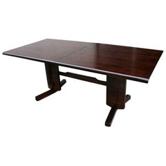 L'Atelier 1950s Brazilian Jacaranda Wood Extendable Dining Table