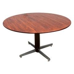 L'Atelier 1960s Brazilian Jacaranda Round Dining Table