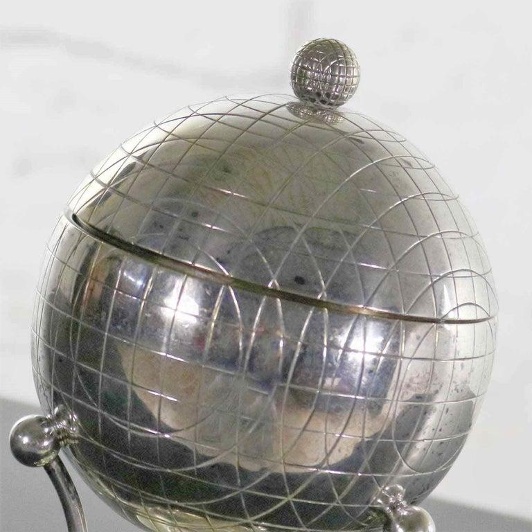 Latham & Morton Silver Plate Egg Warmer Globe Orb Shape Victorian For Sale 5
