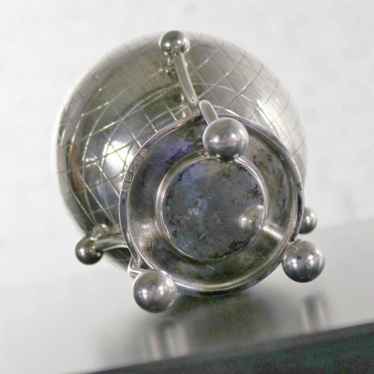 Latham & Morton Silver Plate Egg Warmer Globe Orb Shape Victorian For Sale 7