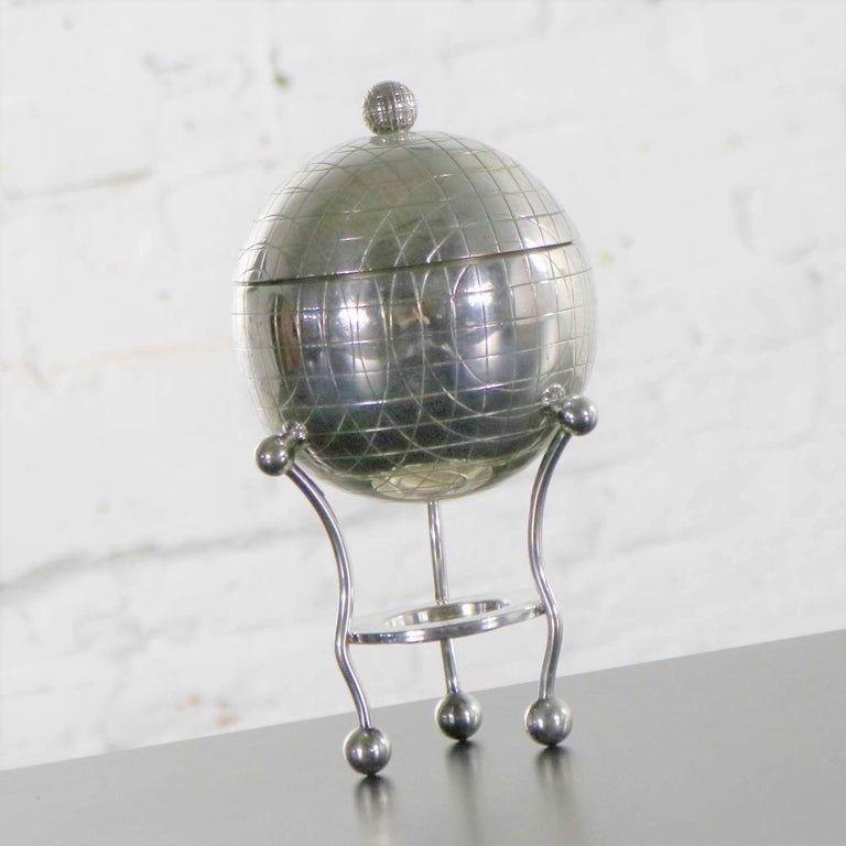 English Latham & Morton Silver Plate Egg Warmer Globe Orb Shape Victorian For Sale