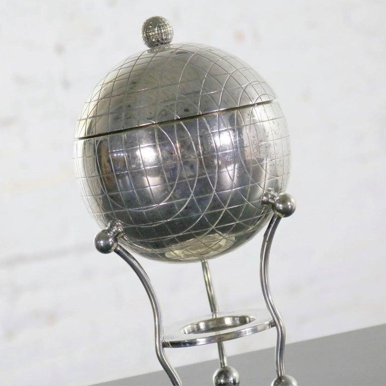 19th Century Latham & Morton Silver Plate Egg Warmer Globe Orb Shape Victorian For Sale