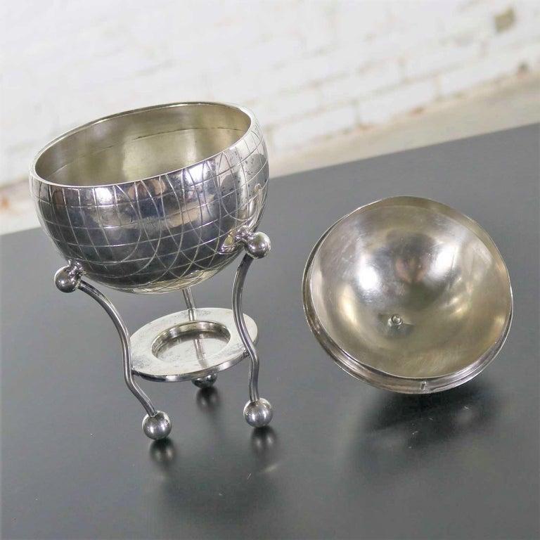 Latham & Morton Silver Plate Egg Warmer Globe Orb Shape Victorian For Sale 2