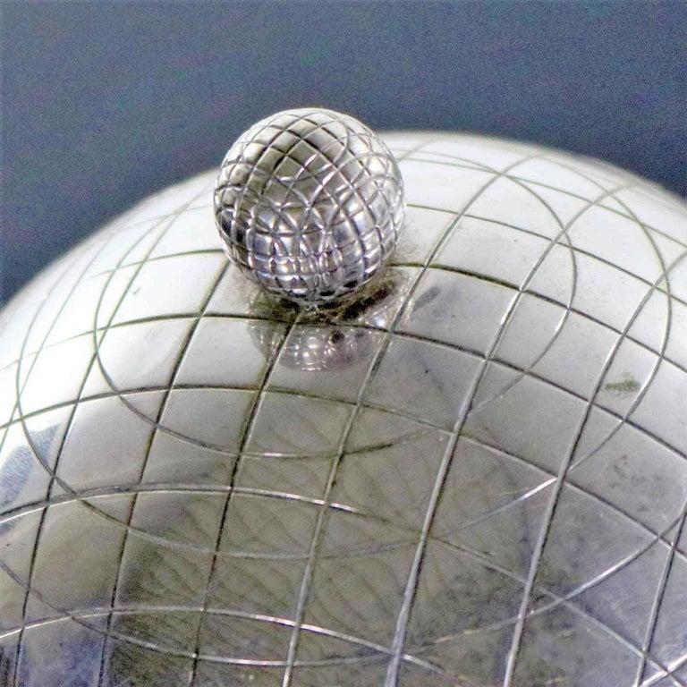 Latham & Morton Silver Plate Egg Warmer Globe Orb Shape Victorian For Sale 4