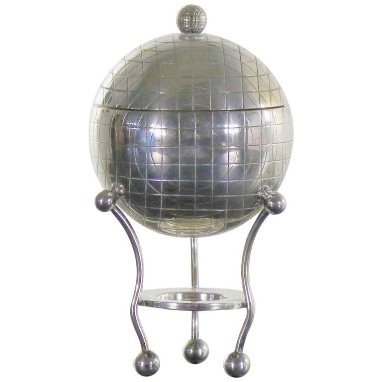 Latham & Morton Silver Plate Egg Warmer Globe Orb Shape Victorian For Sale
