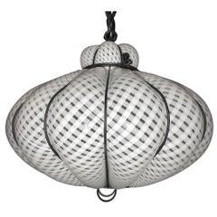 Laticcino Blown Glass Murano Lantern