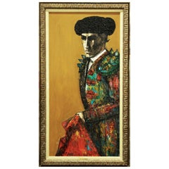 "Latin American Mid-Century Oil on Canvas ""Matador"" by Carlos Irizarry, 1965"