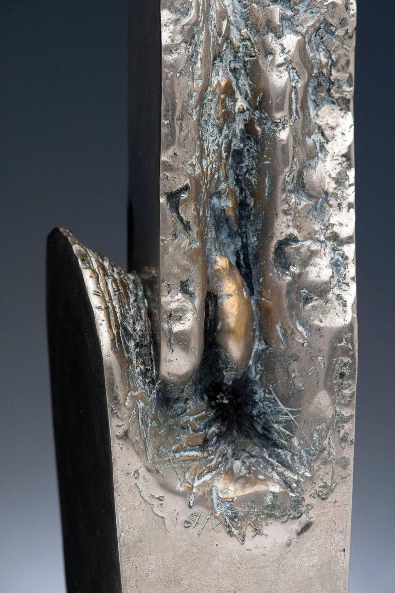 Modern Latin American Raúl Valdivieso Organic Abstract Bronze Metal Sculpture For Sale