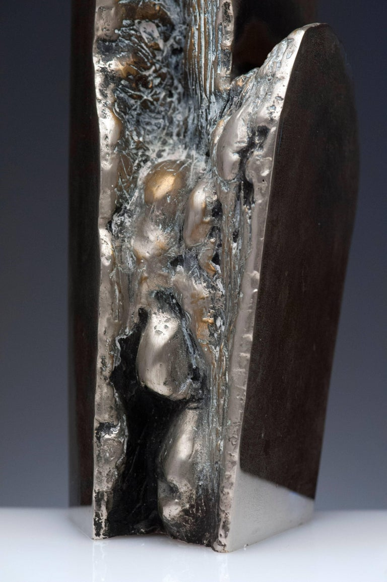 Latin American Raúl Valdivieso Organic Abstract Bronze Metal Sculpture In Excellent Condition For Sale In Washington, DC