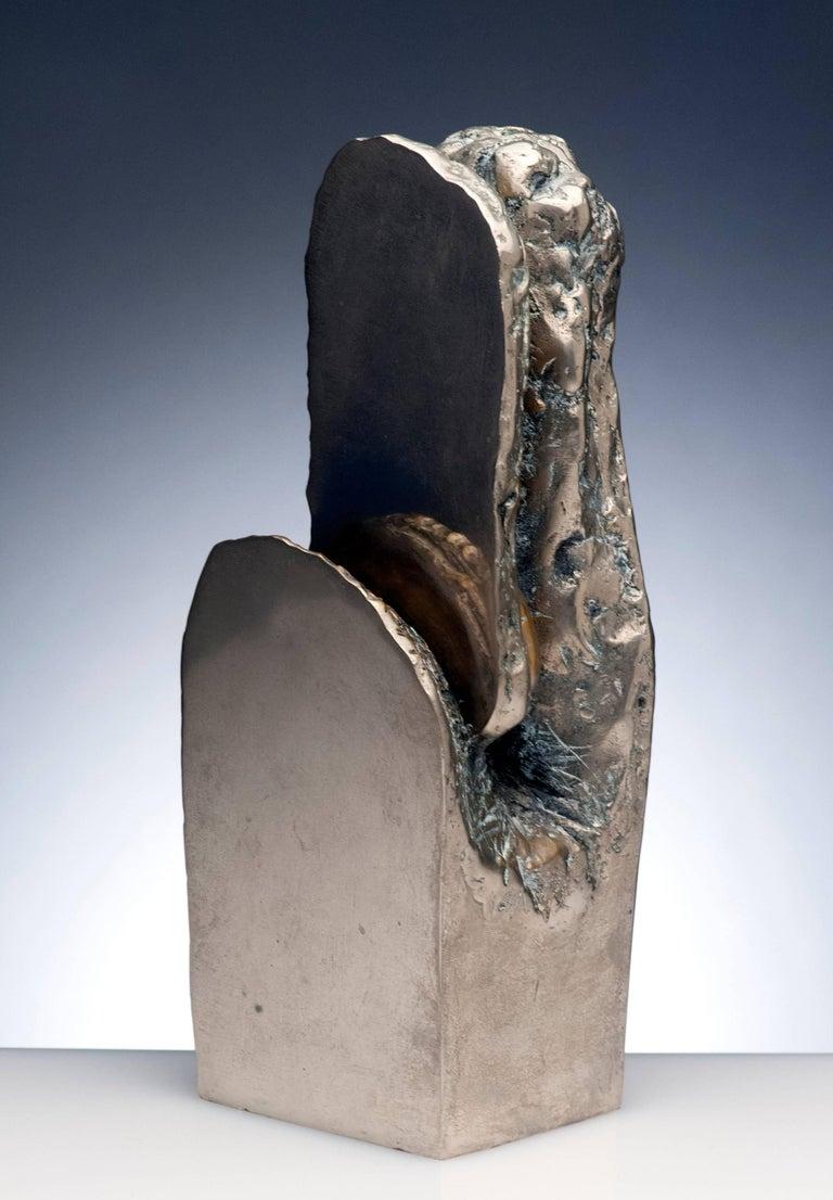 Mid-20th Century Latin American Raúl Valdivieso Organic Abstract Bronze Metal Sculpture For Sale