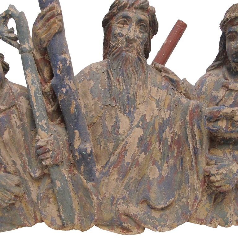 Latin American Religious Santos Carving, Mexican, 19th Century In Good Condition For Sale In San Francisco, CA