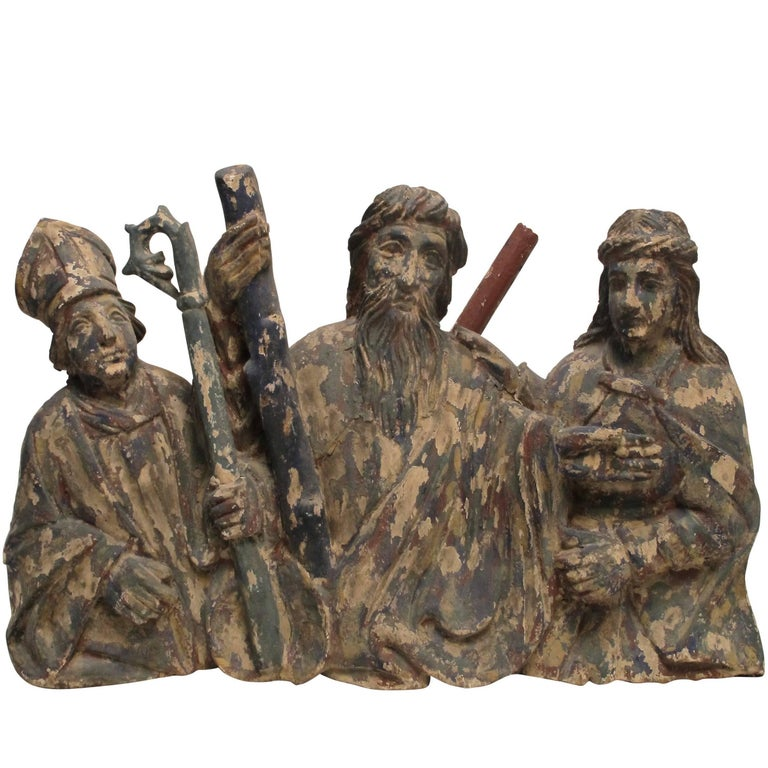 Latin American Religious Santos Carving, Mexican, 19th Century For Sale