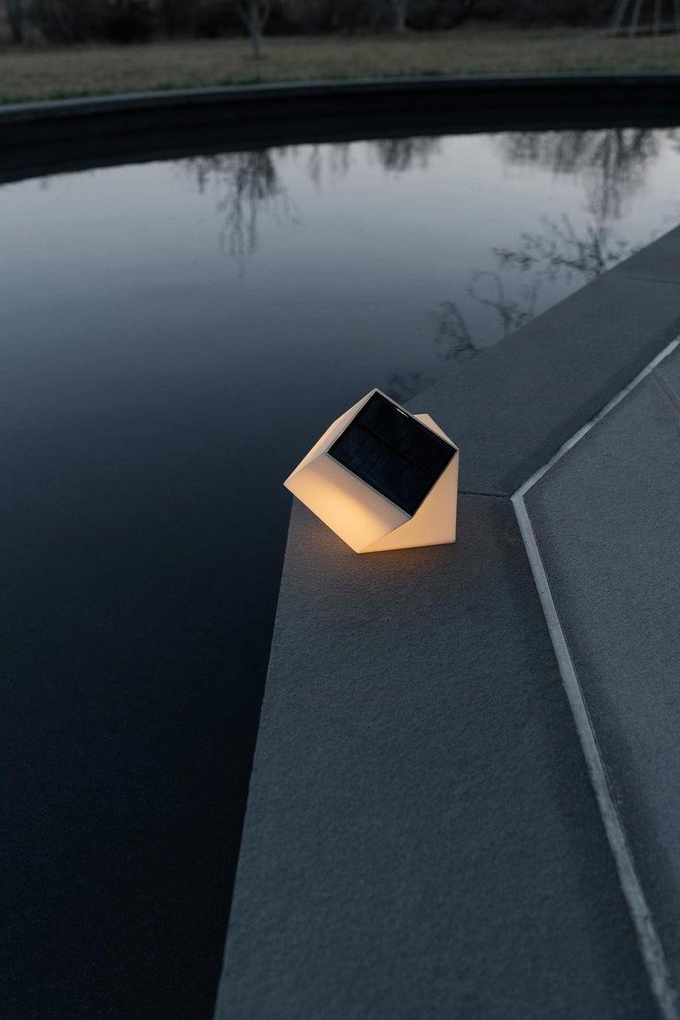 Latitude Light, 3D Printed Contemporary Solar-Powered Translucent, Customizable For Sale 1