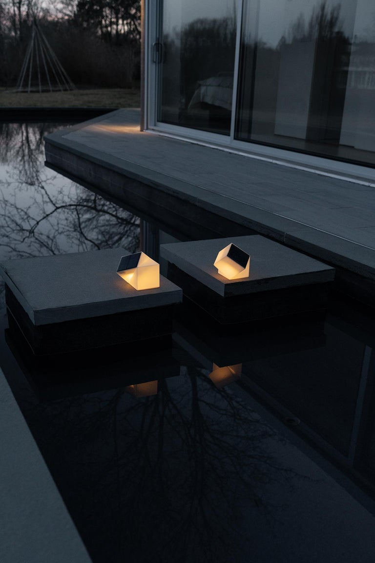 Latitude Light, 3D Printed Contemporary Solar-Powered Translucent, Customizable For Sale 2