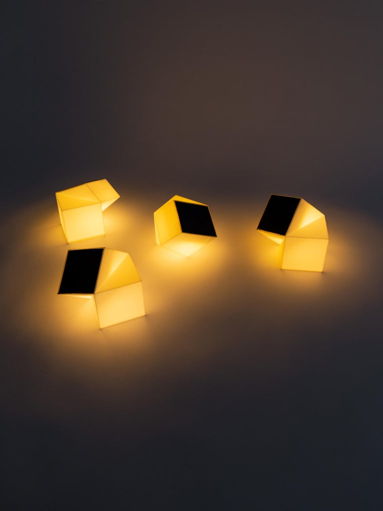 Plastic Latitude Light, 3D Printed Contemporary Solar-Powered Translucent, Customizable For Sale