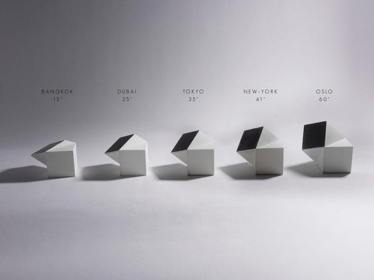 Latitude Light, 3D Printed Contemporary Solar-Powered Translucent, Customizable For Sale 6