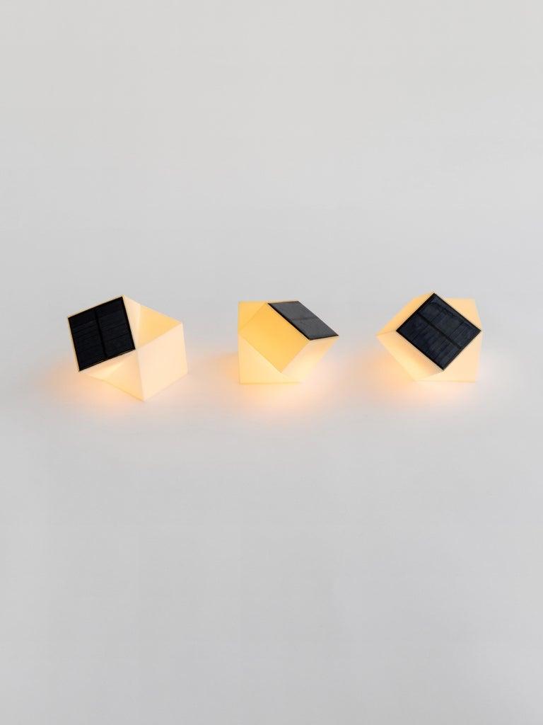 American Latitude Light, 3D Printed Contemporary Solar-Powered Translucent, Customizable For Sale