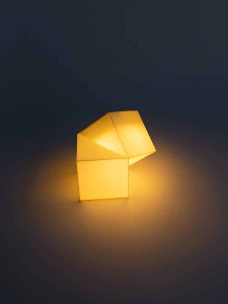 Other Latitude Light, 3D Printed Contemporary Solar-Powered Translucent, Customizable For Sale