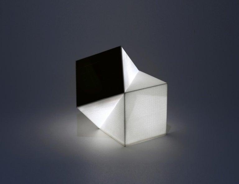 Latitude Light, 3D Printed Contemporary Solar-Powered Translucent, Customizable For Sale 3