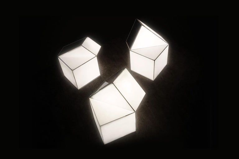 Latitude Light, 3D Printed Contemporary Solar-Powered Translucent, Customizable For Sale 4
