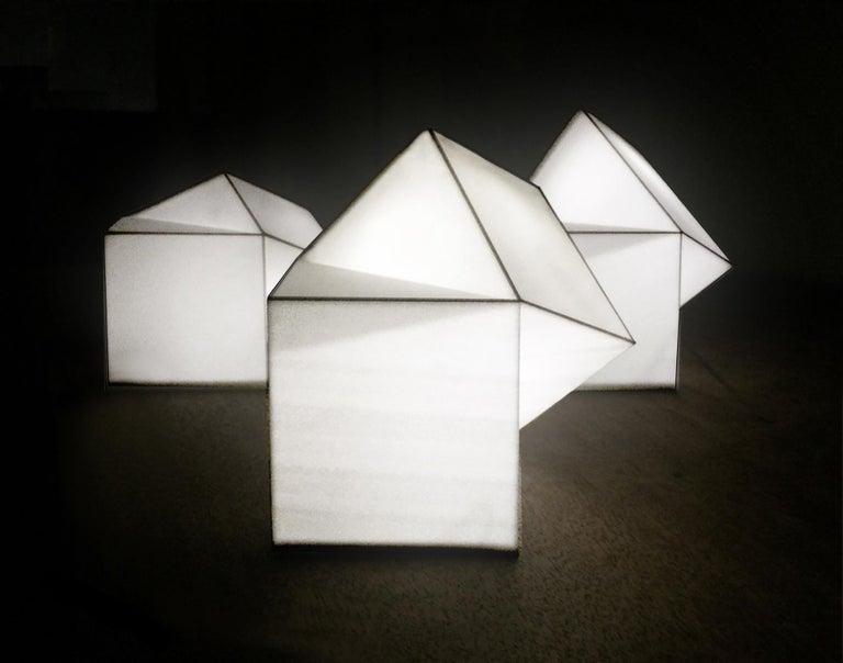Latitude Light, 3D Printed Contemporary Solar-Powered Translucent, Customizable For Sale 5