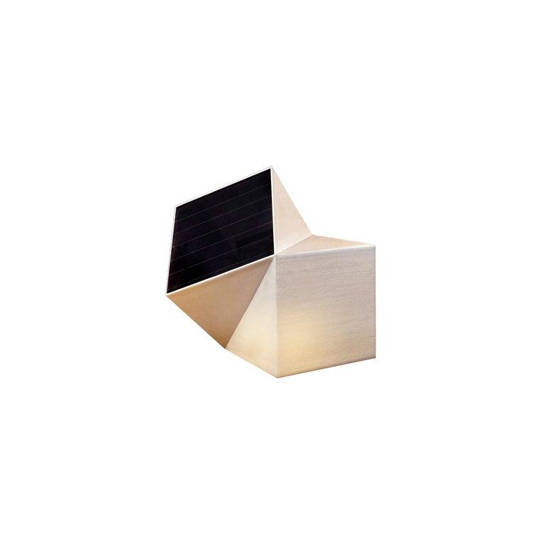 Latitude Light, 3D Printed Contemporary Solar-Powered Translucent, Customizable For Sale