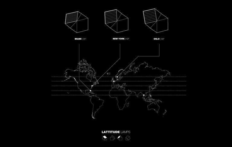 Latitude Light, 3D Printed Contemporary Solar-Powered Translucent, Customizable For Sale 7